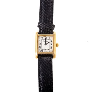 A Vintage Cartier Tank Watch 18K Gold Plated
