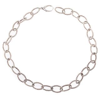 A Tiffany Sterling Silver Twisted Link Necklace