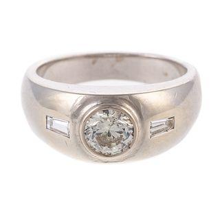 A Gypsy-Set 1.00 ct Diamond Ring in 14K