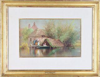 Albert Fitch Bellows (1829-1883) American, W/C