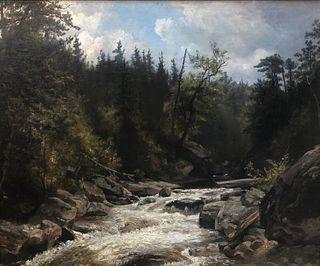 "Hendrik-Dirk Kruseman Van Elten, ""Ausable River NY"" O/C"