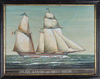 19thC Ship's Portrait, Coleta, Amanda Christies NY