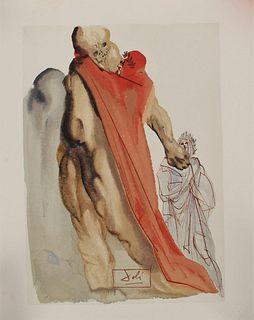 Salvador Dali,'Reproaches of Virgil' Wood Engrav