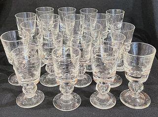 (20) Steuben Crystal Wine Goblets
