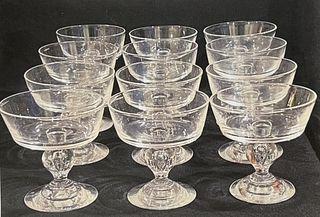 Set of (12) Steuben Champagne Glasses