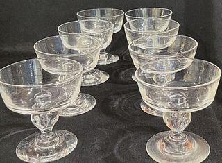 Set of (8) Steuben Champagne Glasses