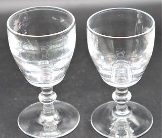 Steuben Port Wine Goblets