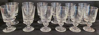 Set of (12) Steuben Glass Goblets
