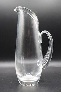Steuben Glass Martini/Water Pitcher