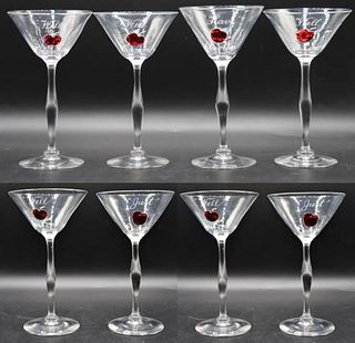 Set of (8) Steuben Cocktail Glasses