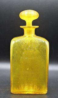 Steuben Bristol Yellow Decanter w Stopper