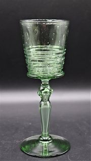 (6) Steuben Reeded Wine Glasses