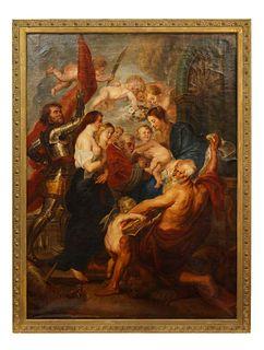 "Lambertus van den Wildenberg (Dutch 1803-1857) ""Ascension of John The Baptist"" C. 1870"