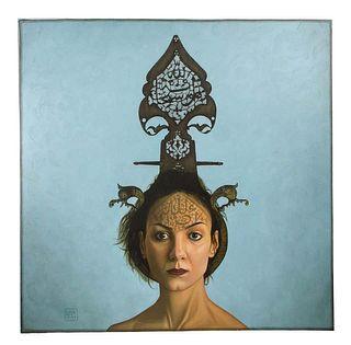 "Morteza Pourhosseini ""The Circus 1"" Oil and Acrylic on Canvas 2013"