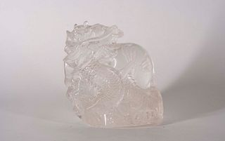 Chinese Rock Crystal 'Dragon' with Pearl