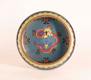 Chinese Cloisonne 'Dragon' Brush Washer