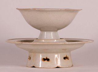 Qingbai Ware Cup and Stand
