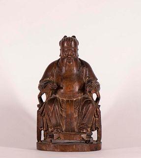Chinese Hardwood Elder Seated Ming Chair