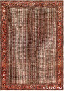 ANTIQUE PERSIAN AFSHAR CARPET. 9 ft x 6 ft 5 in (2.74 m x 1.96 m )