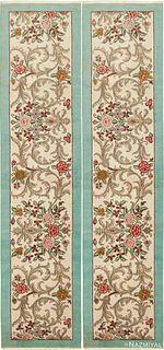 PAIR OF VINTAGE PERSIAN TABRIZ RUNNER RUGS. 12 ft 8 in x 2 ft 10 in (3.86 m x 0.86 m).