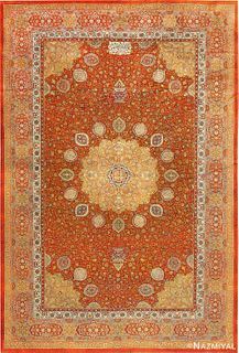 ANTIQUE AMRITSAR INDIAN RUG. 14 ft 2 in x 9 ft 4 in (4.32 m x 2.84 m)