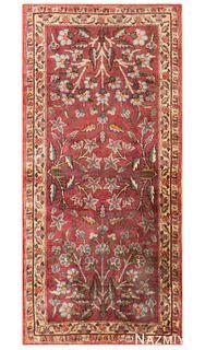 ANTIQUE TURKISH SILK RUG. 3 ft 4 in x 1 ft 6 in (1.02 m x 0.46 m )