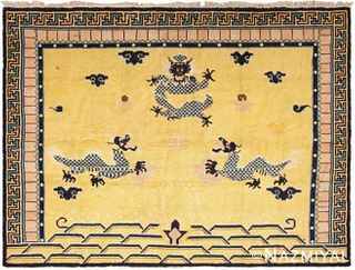 ANTIQUE CHINESE RUG. 8 ft 4 in x 6 ft 4 in (2.54 m x 1.93 m)