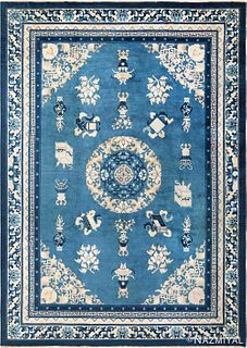 ANTIQUE CHINESE RUG. 11 ft x 8 ft (3.35 m x 2.44 m)