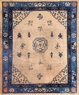ANTIQUE CHINESE RUG. 9 ft 7 in x 8 ft 2 in (2.92 m x 2.49 m)