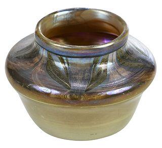 Tiffany Brown Favrile Art Glass Vase