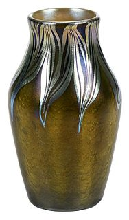 Tiffany Attributed Favrile Art Glass Vase