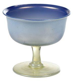 Tiffany Favrile Stemmed Art Glass Vase