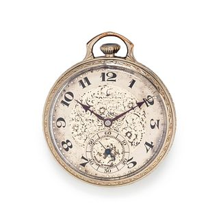 HAMILTON, GOLD-FILLED OPEN FACE POCKET WATCH
