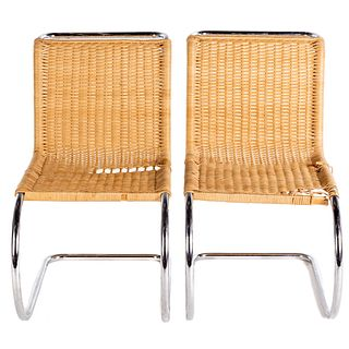Pair of Mies Van Der Rohe MR Chairs for Knoll