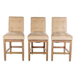 Set of Three Swivel Barstools by Jessica Charles