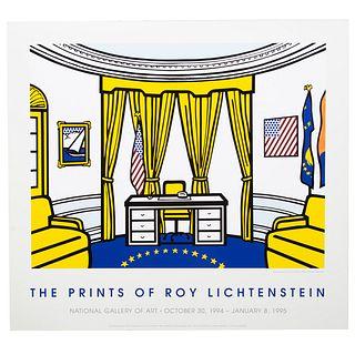 """Roy Lichtenstein. """"Oval Office,"""" serigraph"""