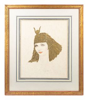 Lorna Kanter (American, 20th Century) Claudette Colbert as Cleopatra