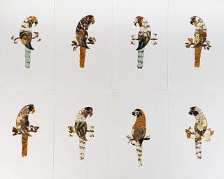 A Collection of Twelve Butterfly Wing Pictures Dimensions of sheet 15 1/2 x 9 1/2 inches.