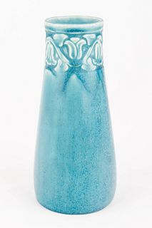 Matte Blue Rookwood Vase