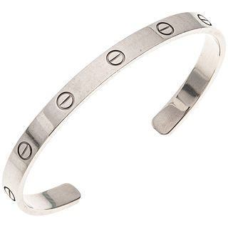 "BRACELET IN 18K WHITE GOLD, CARTIER, LOVE COLLECTION Open design. Weight: 29.3 g. Length: 5.7"" (14.5 cm). Includes case."