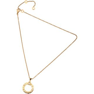 CHOKER AND PENDANT WITH DIAMOND IN 18K PINK GOLD, BVLGARI, BVLGARI BVLGARI COLLECTION 1 brilliant cut diamond