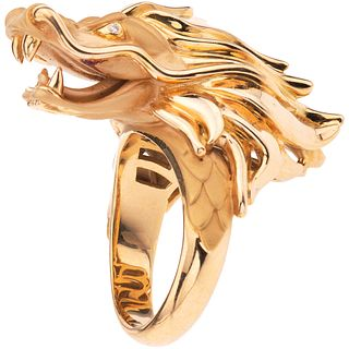 RING WITH DIAMONDS IN 18K YELLOW GOLD, CARRERA Y CARRERA, CÍRCULOS DE FUEGO COLLECTION Size: 6 ¼