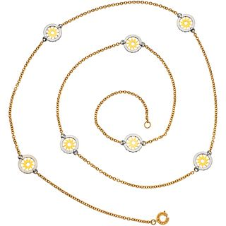 "NECKLACE IN 18K YELLOW GOLD AND STEEL, BVLGARI, TONDO COLLECTION Weight: 35.7 g. Length: 36.6"" (93.2 cm)"