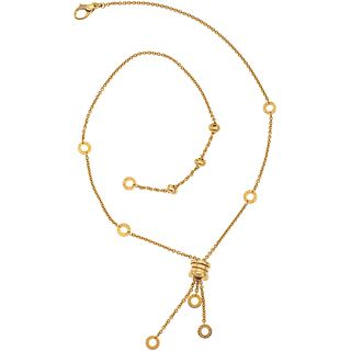 "CHOKER IN 18K YELLOW GOLD, BVLGARI, B.ZERO1 COLLECTION Weight: 15.5 g. Length: 18.1"" (46.0 cm)"