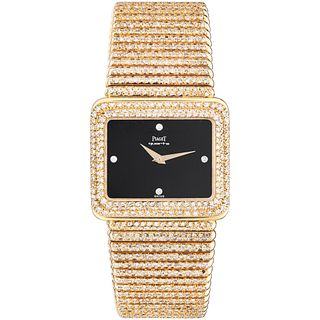 PIAGET WATCH WITH DIAMONDS IN 18K YELLOW GOLD REF. 301215  Movement: quartz. Weight: 192.9 g