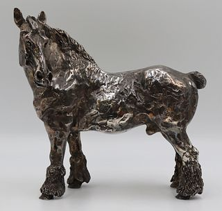SILVER CLAD. Large Silver Clad Clydesdale Horse.