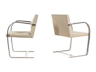 Ludwig Mies van der Rohe (German-American, 1886-1969) Pair of Brno Chairs,Knoll International, USA