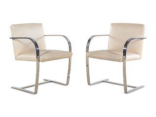 Ludwig Mies van der Rohe (German-American, 1886-1969) Pair of Brno Chairs