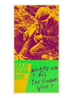 Corita Kent (American, 1918-1986) manflowers (from heroes and sheroes), 1969