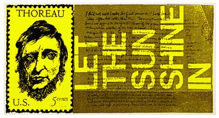Corita Kent(American, 1918-1986)the stamp of thoreau (from heroes and sheroes), 1969